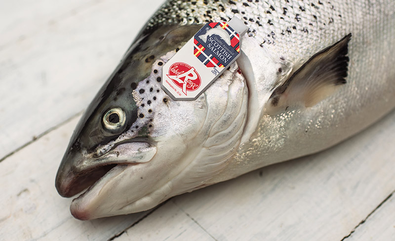 salmon with label rouge gill tag